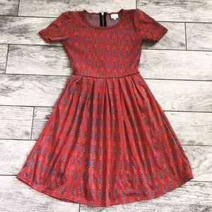 Lularoe Tribal Print Dress With Pockets